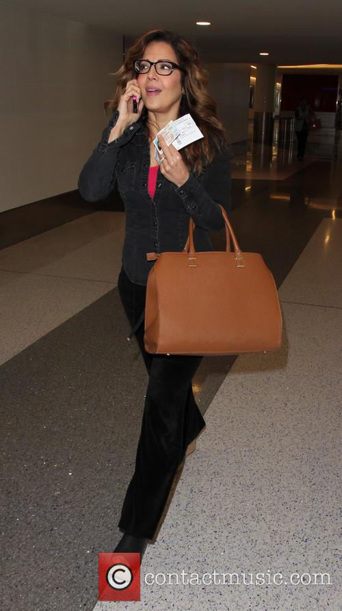 Maria Canals Barrera departs from Los Angeles International...