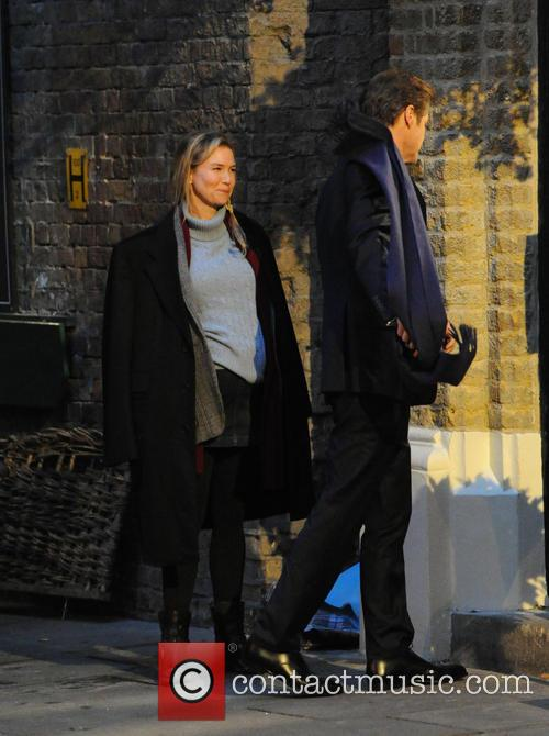 Renee Zellweger filming 'Bridget Jones's Baby'