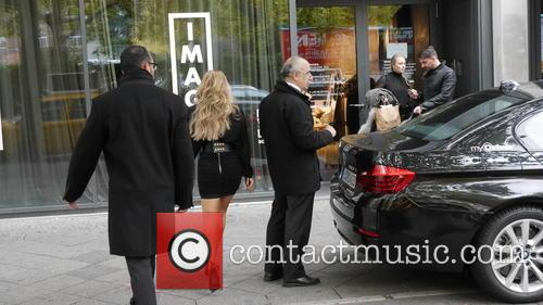 Sylvie Meis arriving at Parker Bowles