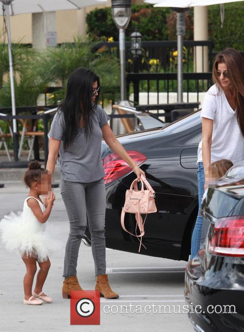 Kourtney Kardashian, Nori, North West and Penelope Scotland Disick 2