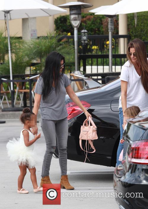 Kourtney Kardashian, Nori, North West and Penelope Scotland Disick 1