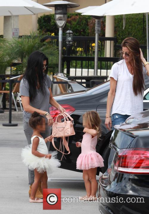 Kourtney Kardashian, Penelope Scotland Disick, Nori and North West 3