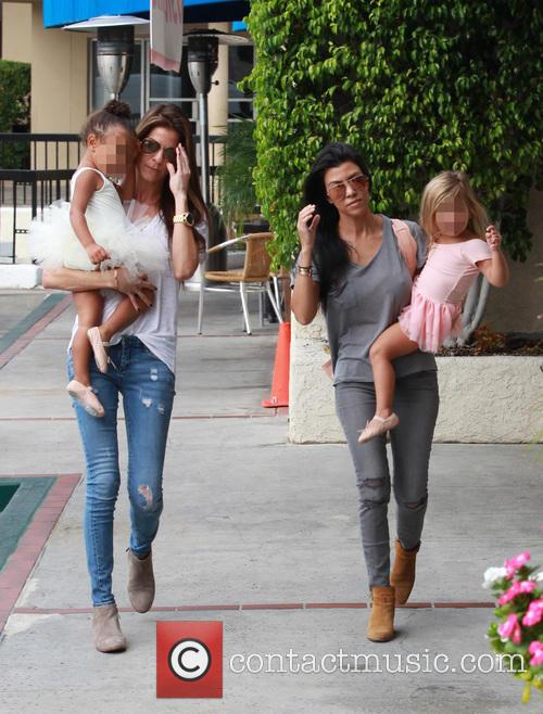 Kourtney Kardashian, Penelope Scotland Disick, Nori and North West 10