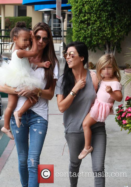 Kourtney Kardashian, Penelope Scotland Disick, Nori and North West 11