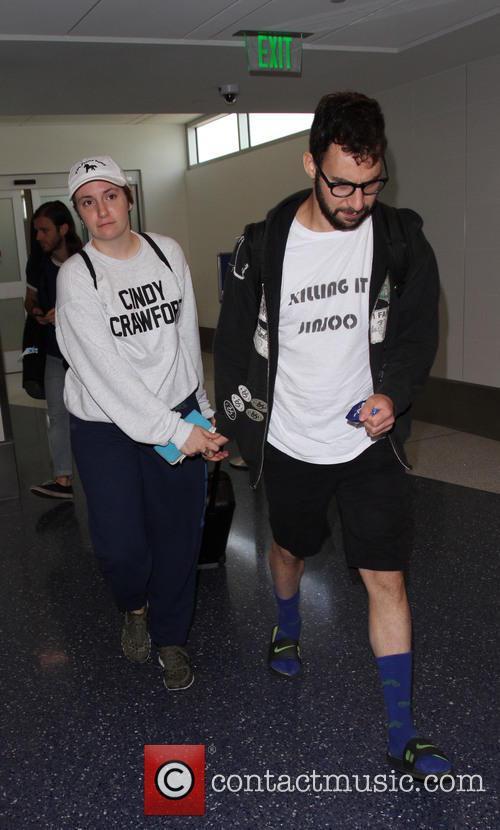 Lena Dunham and Jack Antonoff 5