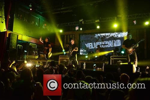 Sean Mackin, Ryan Key, Nate Young, Josh Portman, Ryan Mendez and Yellowcard 4