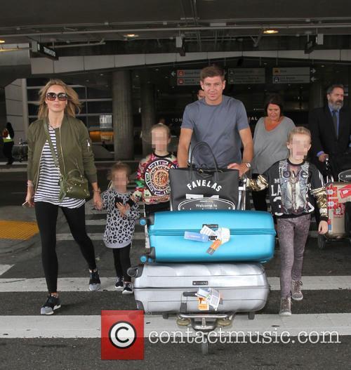 Steven Gerrard, Alex Gerrard, Lilly-ella Gerrard, Lourdes Gerrard and Lexie Gerrard 2