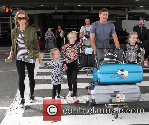 Steven Gerrard, Alex Gerrard, Lilly-ella Gerrard, Lourdes Gerrard and Lexie Gerrard 1