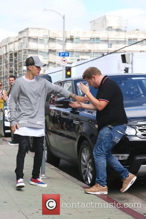 Justin Bieber and James Corden 4
