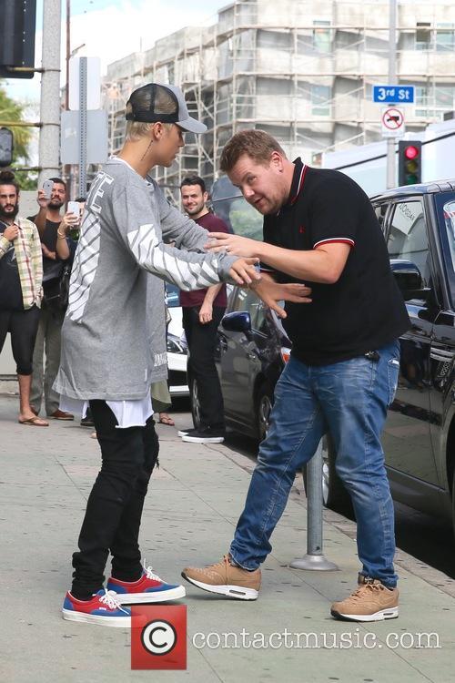 Justin Bieber and James Corden 6