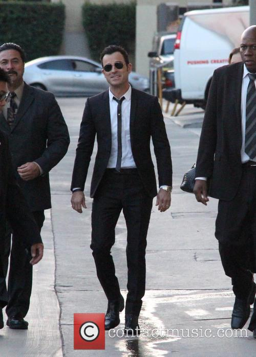 Justin Theroux at a taping of 'Jimmy Kimmel...
