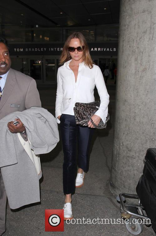Stella McCartney arrives at Los Angeles International Airport...
