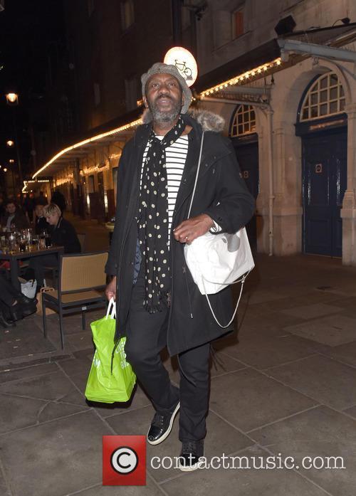 Lenny Henry spotted walking down St. Martin's Lane...