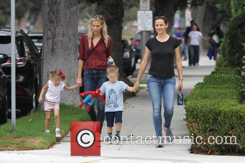 Jennifer Garner, Seraphina Rose Elizabeth Affleck and Samuel Garner Affleck 2