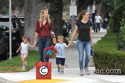 Jennifer Garner, Seraphina Rose Elizabeth Affleck and Samuel Garner Affleck 3