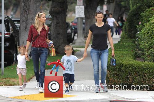 Jennifer Garner, Seraphina Rose Elizabeth Affleck and Samuel Garner Affleck 4