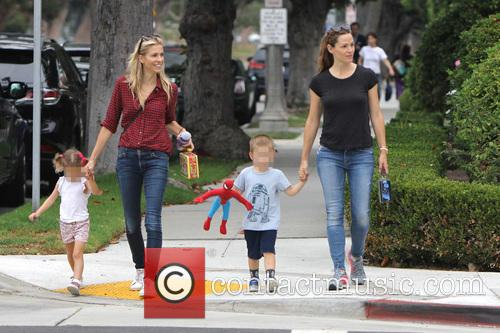 Jennifer Garner, Seraphina Rose Elizabeth Affleck and Samuel Garner Affleck 5