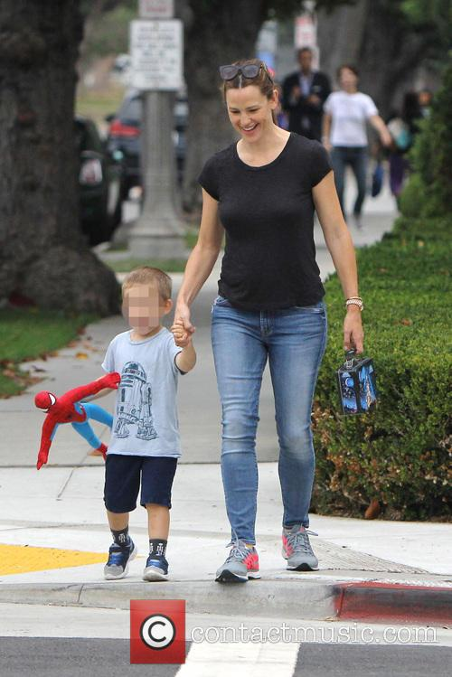 Jennifer Garner, Seraphina Rose Elizabeth Affleck and Samuel Garner Affleck 6