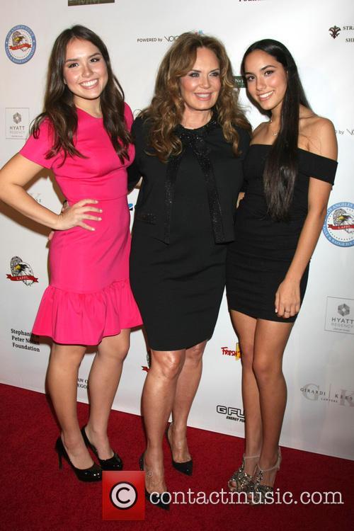 Catherine Bach, Sophia Isabella Lopez and Laura Esmeralda Lopez 2