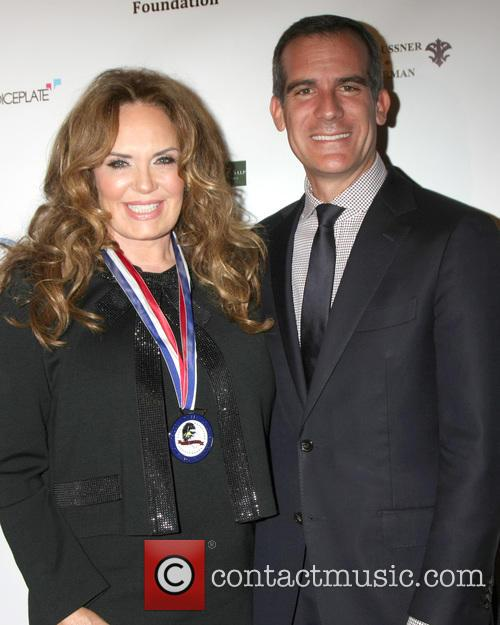 Catherine Bach and Eric Garcetti - Los Angeles Mayor 2