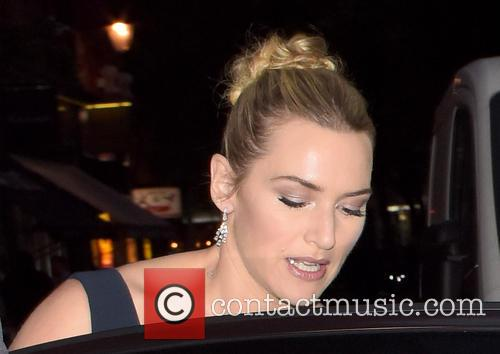 Kate Winslet leaves her hotel