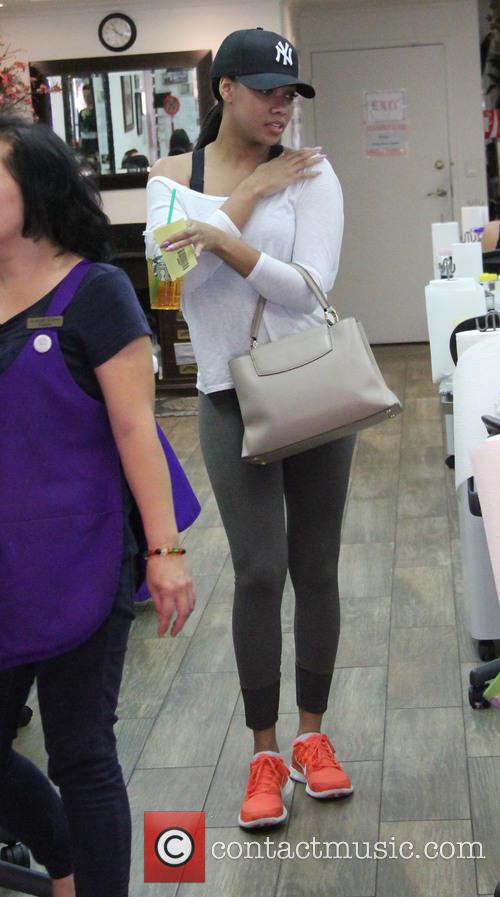 Bria Murphy at a nail salon in Beverly...