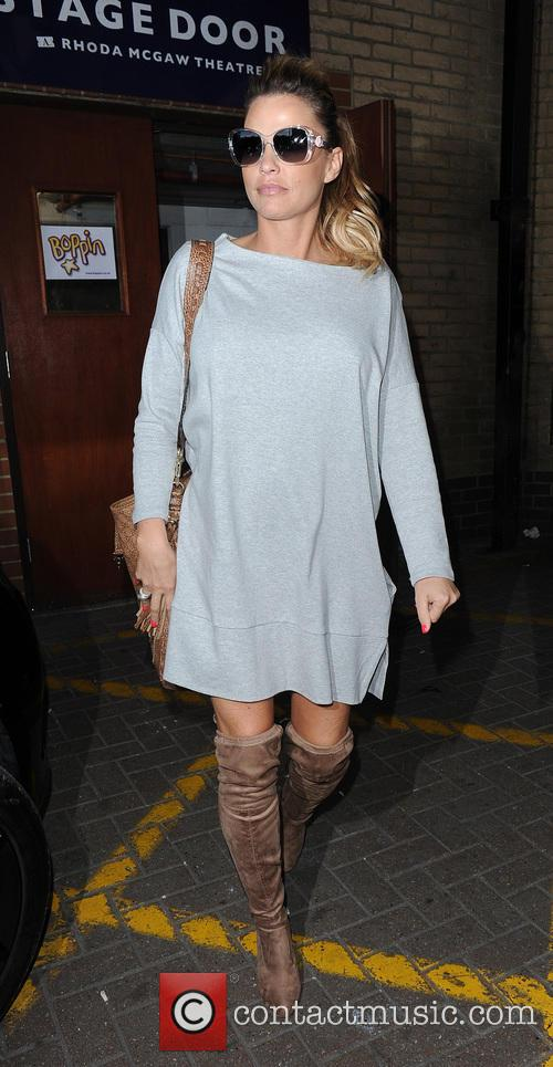Katie Price leaving the New Victoria Theatre in...