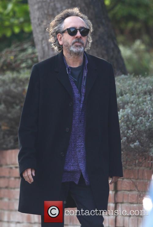 Tim Burton leaves his home in London