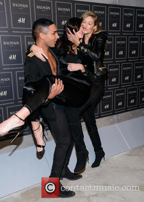 Olivier Rousteing, Kendall Jenner and Gigi Haded 4