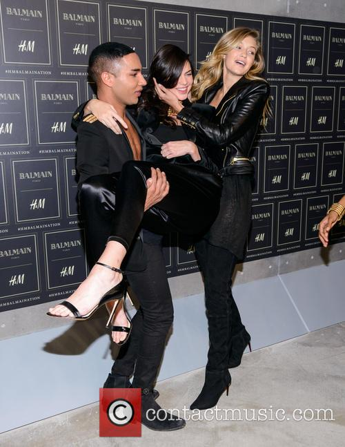 Olivier Rousteing, Kendall Jenner and Gigi Haded 5