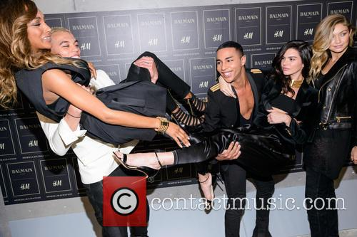 Olivier Rousteing, Kendall Jenner, Gigi Haded and Jourdan Dunn 2