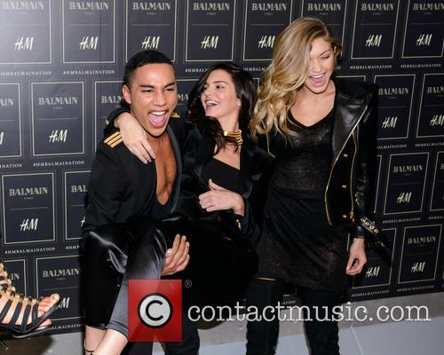 Olivier Rousteing, Kendall Jenner and Gigi Haded 1