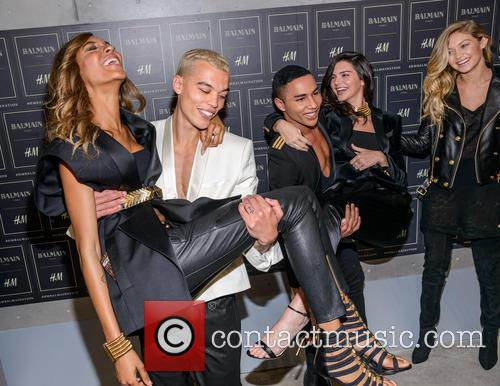 Olivier Rousteing, Kendall Jenner, Gigi Haded and Jourdan Dunn 1