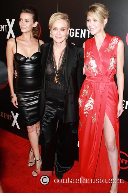 Olga Fonda, Sharon Stone and Carolyn Stotesbery 1