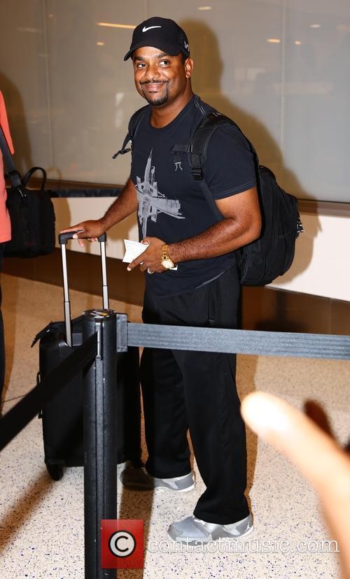 Alfonso Ribeiro at Los Angeles International Airport
