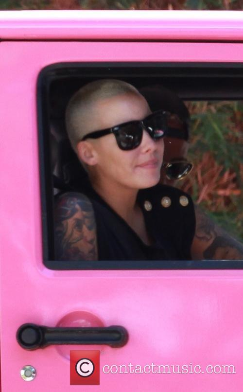Amber Rose out having lunch at Jinkys Cafe