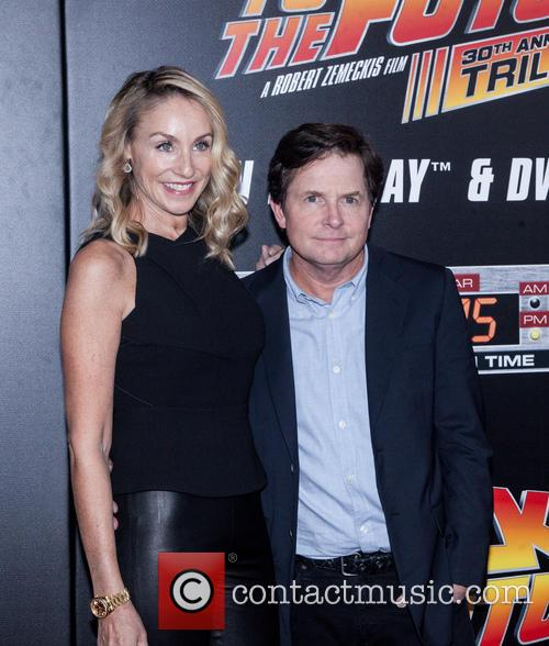 Amy Pollan and Michael J. Fox 7