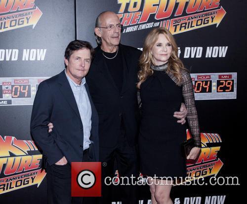 Michael J. Fox, Christopher Lloyd and Lea Thompson