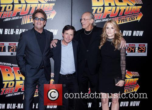 Huey Lewis, Michael J. Fox, Christopher Lloyd and Lea Thompson 3
