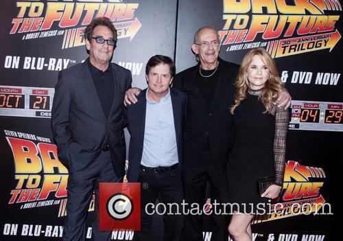 Huey Lewis, Michael J. Fox, Christopher Lloyd and Lea Thompson 4