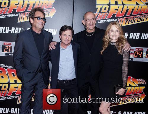 Huey Lewis, Michael J. Fox, Christopher Lloyd and Lea Thompson 5
