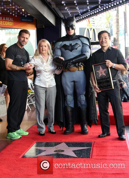Zack Snyder, Elizabeth Sanders, Batman and Jim Lee 1