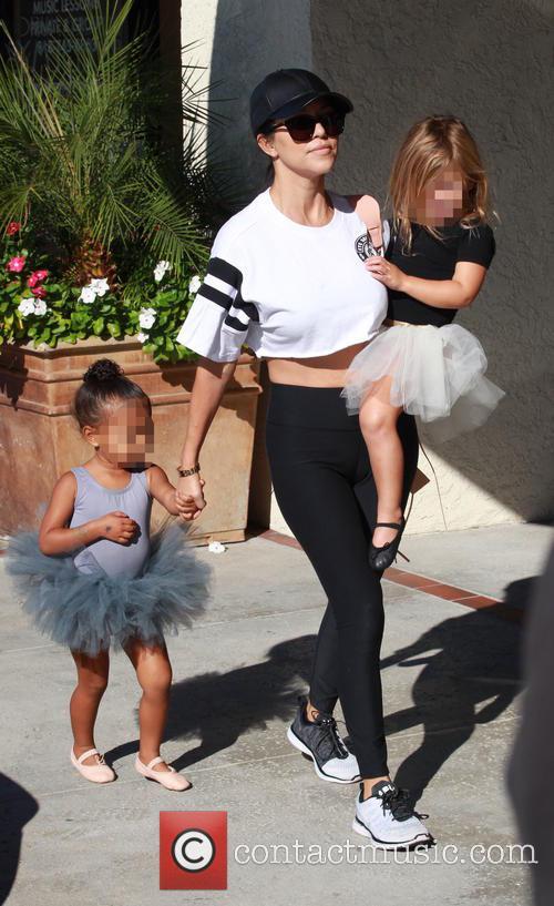 Kourtney Kardashian, North and Penelope 3