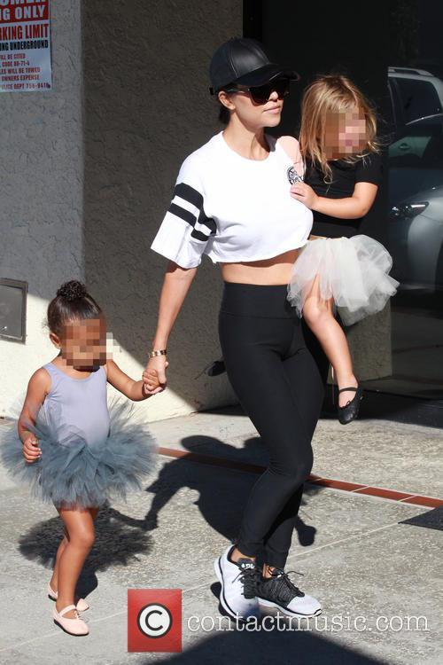 Kourtney Kardashian, North and Penelope 4