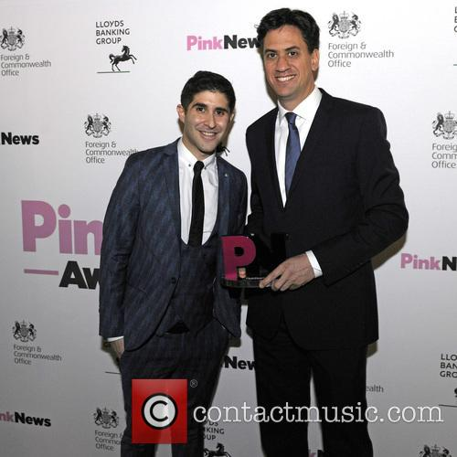 Pink, Ben Cohen and Ed Milliband 1
