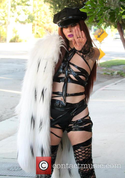 Phoebe Price out wearing her 'Fifty Shades of...