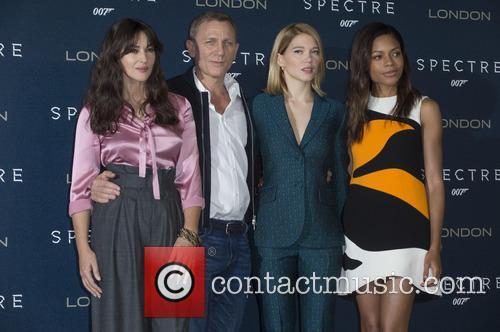 Monica Bellucci, Daniel Craig, Lea Seydoux and Naomi Harris 2