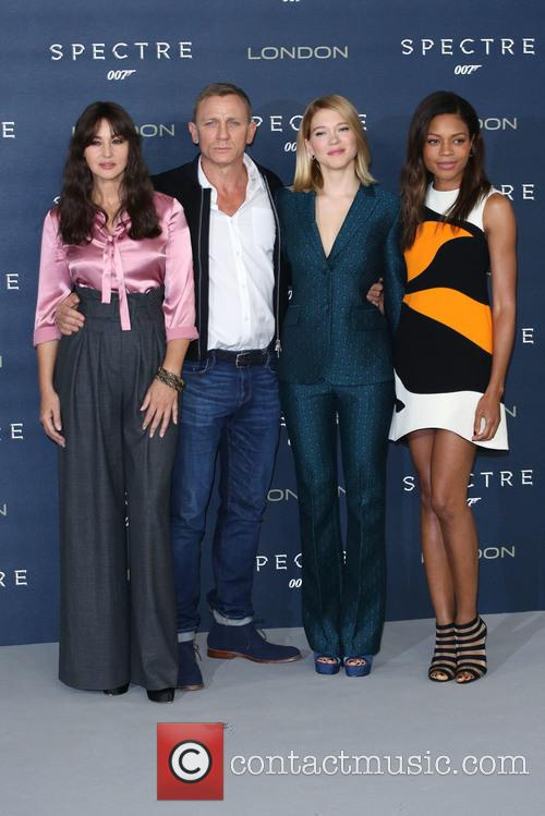 Monica Bellucci, Daniel Craig, Lea Seydoux and Naomie Harris 7