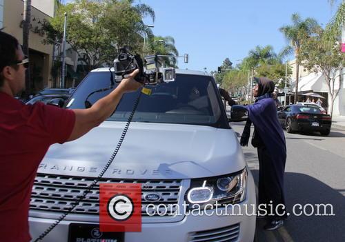 Kim Kardashian departs after getting lunch at La...