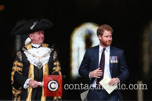 Prince Harry and Lord Mayor Alan Yarrow 3